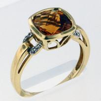 14kt Gold Citrine and Diamond Ring EGR9205