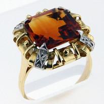 14kt Gold Citrine Ring 01Y12ML