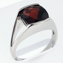4.0ct Garnet White Gold Ring