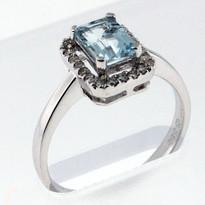 Aquamarine .86ct Ladies Ring