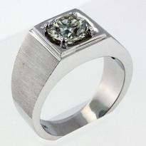 1.81ct Diamond Men's White Gold Ring-03B1Y