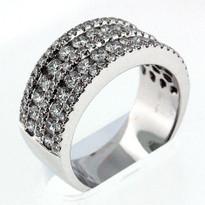 14kt White Gold, 1.93ct Diamond Wedding Band