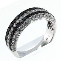 18kt White Gold, .57ct Black Diamond Wedding Band