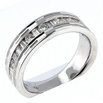 18kt White Gold, .50ct  Diamond Wedding Band