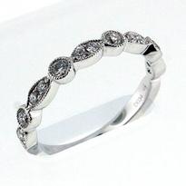 18kt White Gold, .34ct Diamond Wedding Band