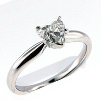 14k White Gold Engagement Ring with .70ct Center Diamond