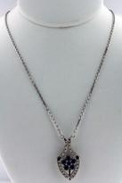 Necklace .69ct Sapphire  Diamond Necklace 14k White Gold