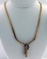 1.10ct  Diamond Necklace 14k Yellow Gold