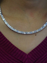 4.24ct Diamond Necklace 18k White Gold