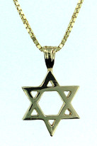 14kt Yellow Gold Jewish Star