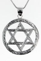 14kt White Gold Jewish Star