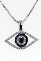 14kt White Gold Diamond Evil Eye
