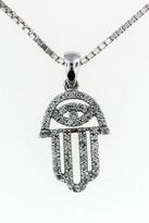 14kt White Gold Jewish Diamond Hamsa