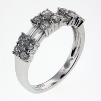 1.01ct Diamond Cluster Ring in White Gold