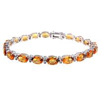 14kt White Gold Citrine Bracelet