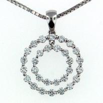 Diamond  .86ct Pendant in 18kt Gold