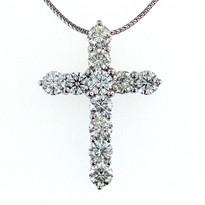 2.75ct Diamond Cross Pendant