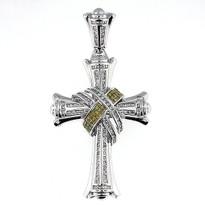 3.21ct Diamond Cross Pendant