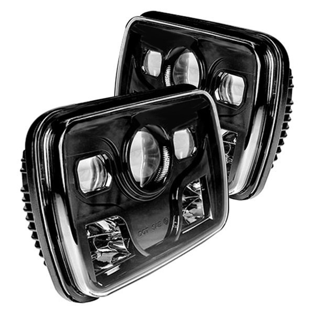 84-88 Pontiac Fiero LED Headlight Housings - Oracle 42W - Black