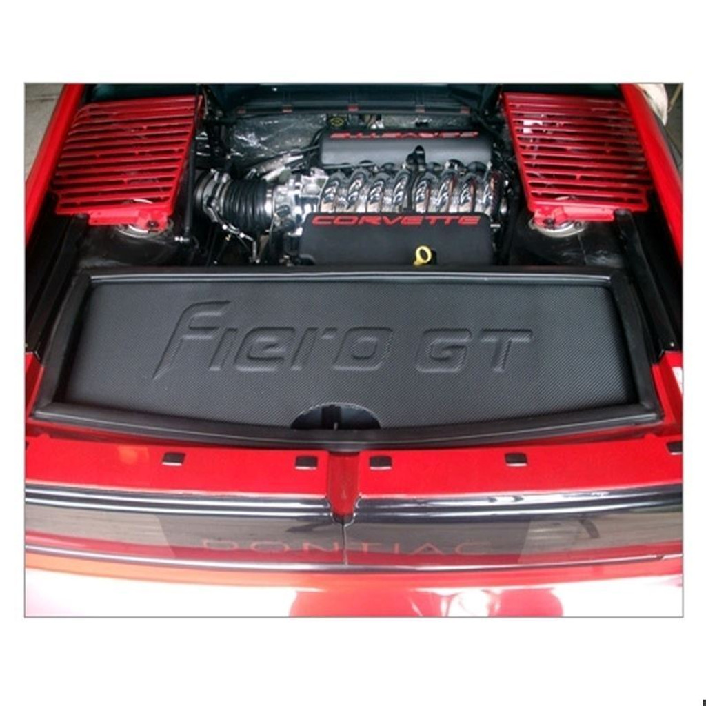 BTR Pontiac Fiero Fastback Upper Trunk Cover WITH Logo