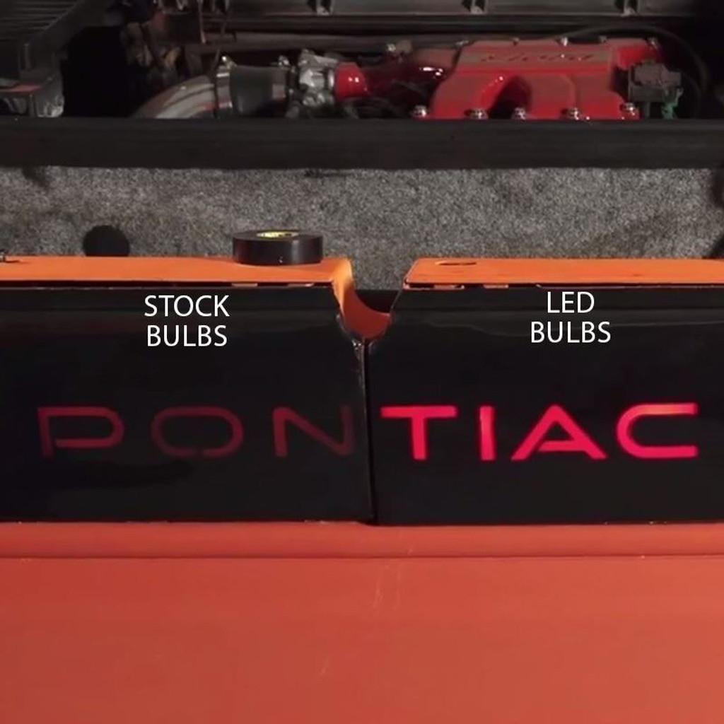 PON TIAC TAIL LIGHT BULBS - 1986 - 1988 Pontiac Fiero Brake Light Bulbs Upgrade