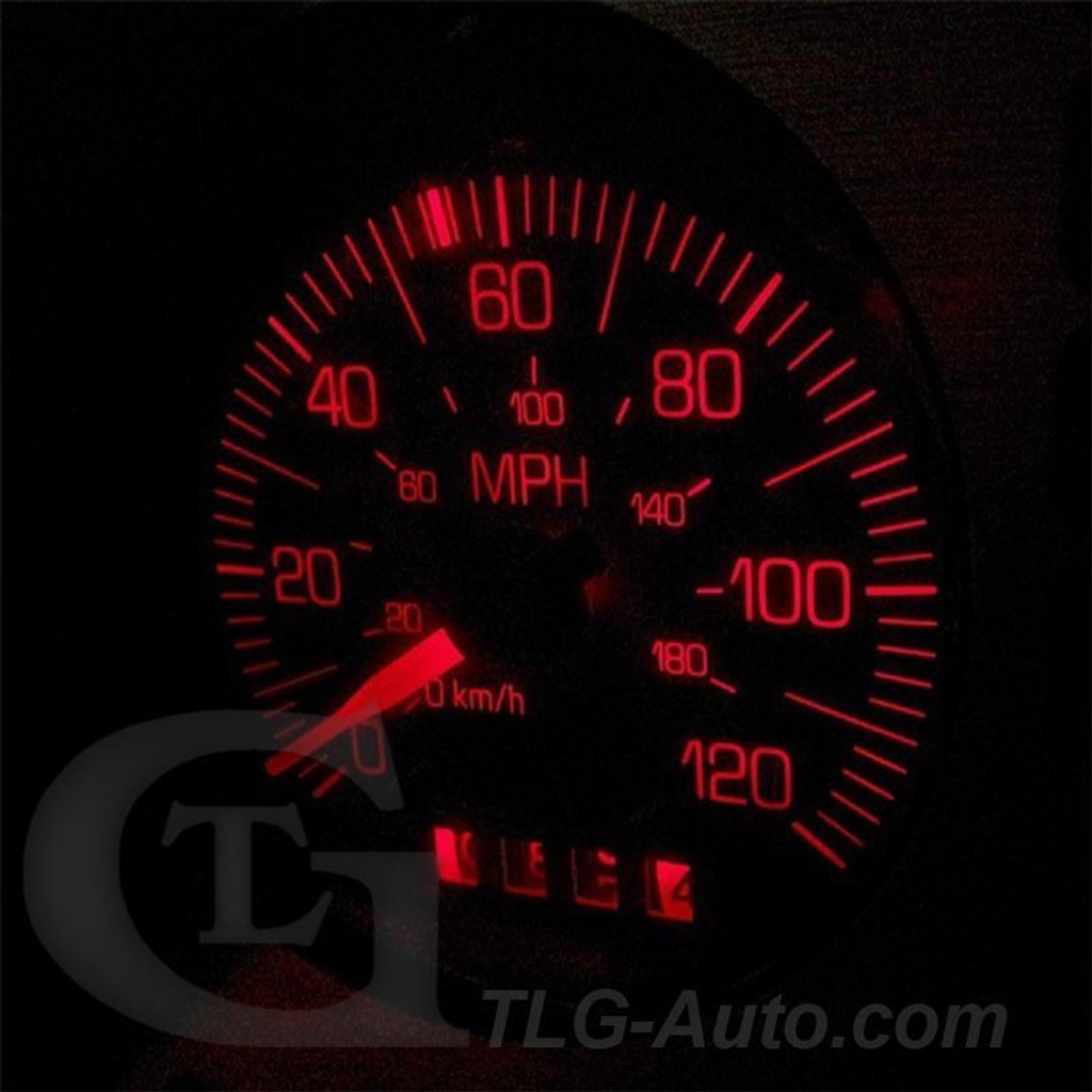 120MPH GAUGE CLUSTER LED BULBS (Speedo / Tach) Pontiac Fiero 1984 - 1988 LED Light Bulbs Upgrade Kit