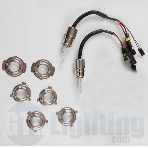GTR Lighting 35w/55w Dual Beam HID Bulbs, H6M (Relay Harnesses Included)