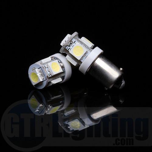 GTR Lighting H6 / BA9S 5-LED Bulbs