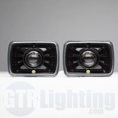 "GTR Lighting Tru-Projector Dual Beam 7x6"" H6054 Black Headlight Housing"