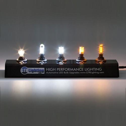 GTR Lighting 3156 / 3157 LED Bulb Display with Power Supply and Bulbs