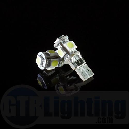 GTR Lighting T10 / 194 / 168 5-LED CANBUS Bulbs