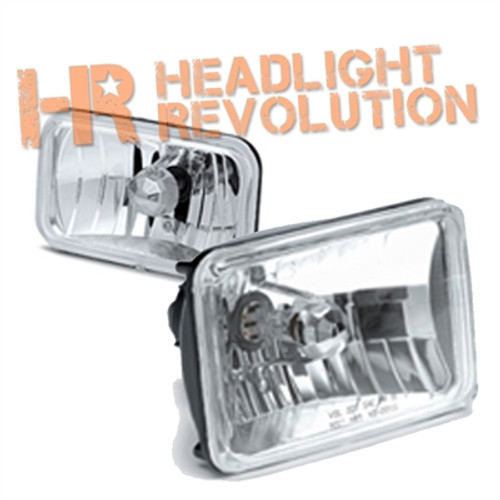 "Clear Lens 4703 Low Beam 3""x5"" Sealed Beam Replacement Headlights"