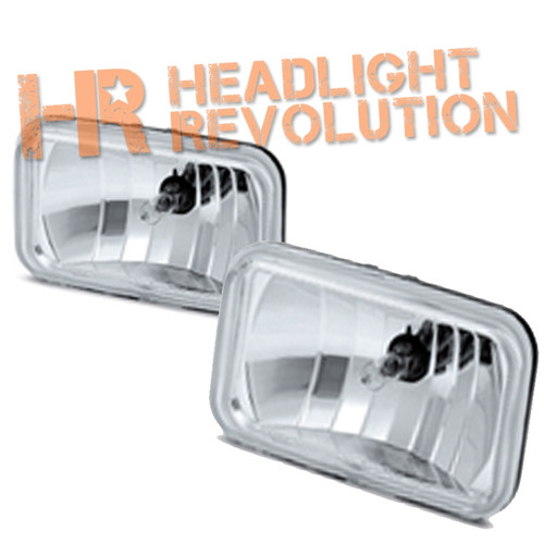 "Clear Lens 4701 High Beam 3""x5"" Sealed Beam Replacement Headlights"