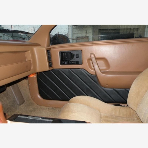 Pontiac Fiero Custom Door Panel Upholstery Kit with Diagonal Stitching