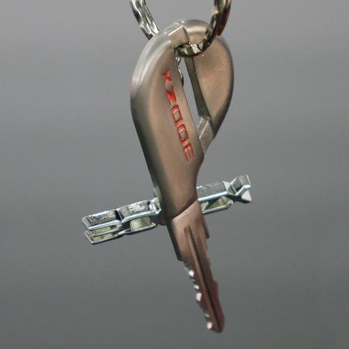BTR Chrome Nissan 300zx Logo Keychain