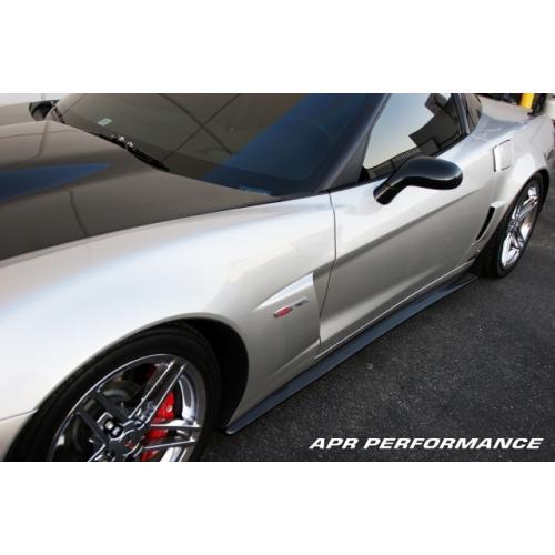 APR Performance Chevrolet Corvette C6 Z06 Side Rocker Extensions 2006-Up (Fits Z06 and Grand Sport)