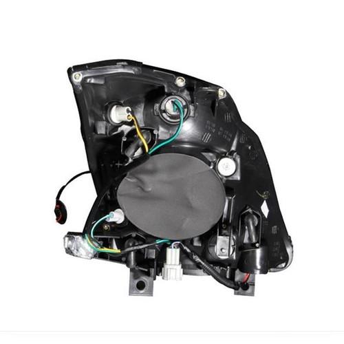 Anzo 03-05 Nissan 350Z Headlights - Crystal Lens, Black Housing