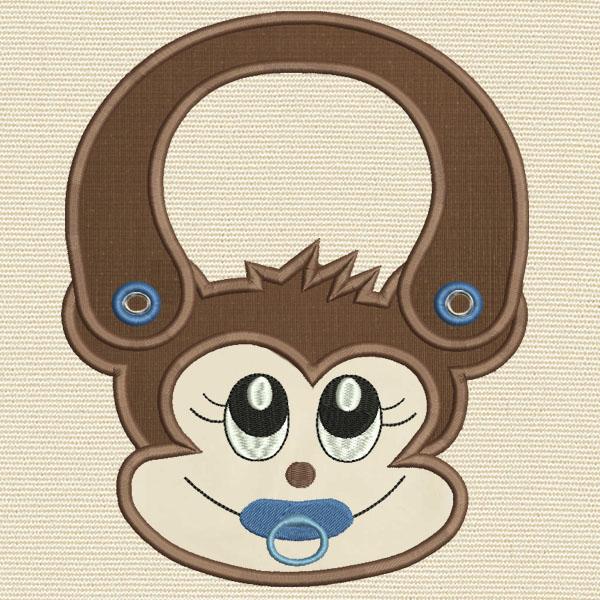 Monkey  Machine Embroidery