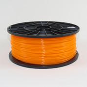 PLA filament, 1.75mm, translucent orange color