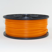 PLA filament, 3mm, translucent orange color