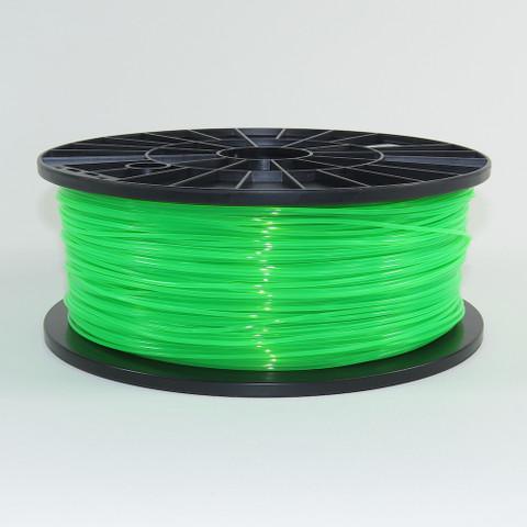PLA filament, 1.75mm, fluorescent green