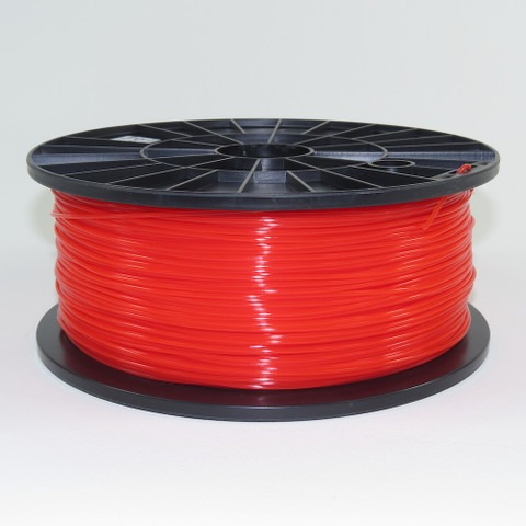 PLA filament, 1.75mm, translucent red color