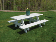 Dura-Trel 8 Foot PVC Picnic Table
