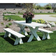 Dura-Trel 8 Foot PVC Picnic Table 2