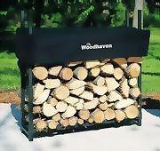 "Woodhaven Log, Firewood Rack & Cover 3'x 3' x 10"""