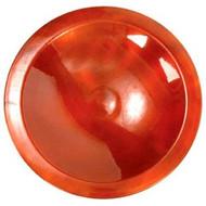 Achla Glossy Enamel Bird Bath Brass With Red Finish