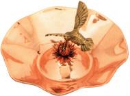 """Achla 13"""" Hummingbird Bird Bath Polished Copper"""