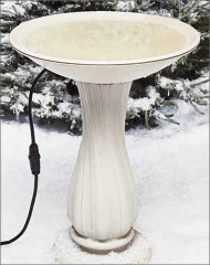 Allied Heated Pedestal Bird Bath