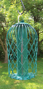 Songbird Essentials Caged Thistle Seeder Large Green