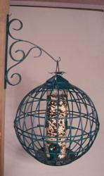 Songbird Essentials Caged Seed Feeder Round Green